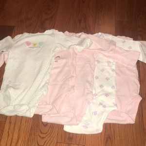 Carters Long Sleeve Onesies
